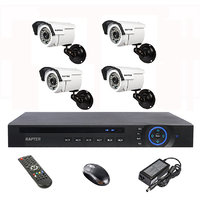 Rapter 960P (1.3 MP) Bullet Camera 4 Pcs + 4 Channel AHD DVR + 4 Channel Power Supply + BNC DC Connector