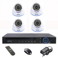 Rapter 960P (1.3 MP) Dome Camera 4 Pcs + 4 Channel AHD DVR + 4 Channel Power Supply + BNC DC Connector