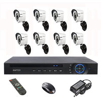 Rapter 960P (1.3 MP) Bullet Camera 8 Pcs + 8 Channel AHD DVR + 8 Channel Power Supply + BNC DC Connector