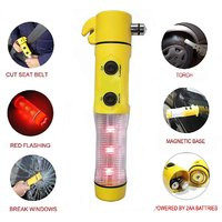 5 in 1 Auto Emergency Tool Flashlight Kit for Cars (Yellow)