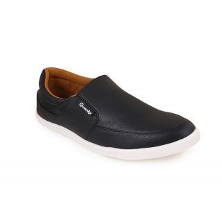 Quarks MenS Black Loafers