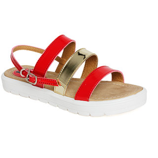 Vendoz Women Red Sandals VDFL44RD ]