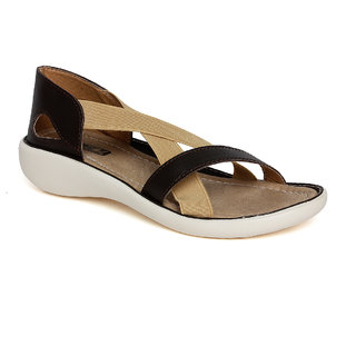 Vendoz Women Brown Sandals VDFL20BR