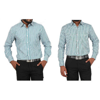 Grahakji Mens Multicolor Comfort Fit Formal Shirt