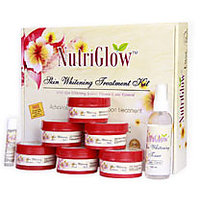 NutriGlow Skin Whitening Treatment Kit With Free Nutriglow Whitening Bleach Cream