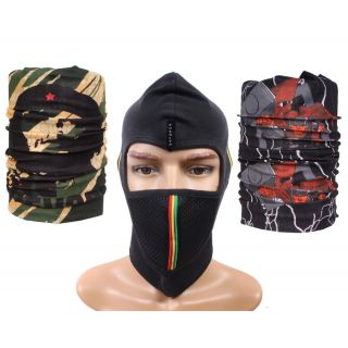 Sushito Devil's Black Full Face Mask  Freebie Fancy Bandana JSMFHFM0622-JSMFHMA0711-JSMFHMA0687