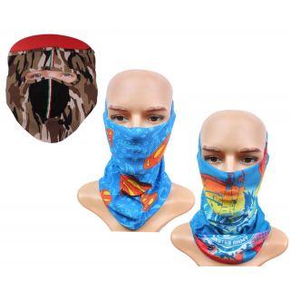 Sushito Pollution Free Millitary Design Men's Face Mask  Freebie Bandana JSMFHFM0631-JSMFHMA0629-JSMFHMA0673