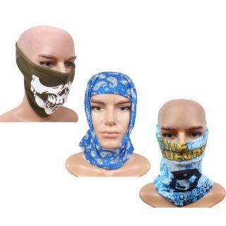 sushito Pollution Free Gree Half Face Mask  Freebie Winter Protect Bandana JSMFHFM0530-JSMFHMA0620-JSMFHMA0586