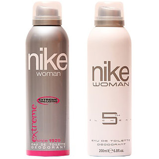 Nike Deodorants Extreme and 5th Element for Women 200ml Each (Pack of 2)