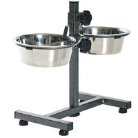 Petshop7 High Quality Pets Dog Food Bowl - Stand (920MLX2 Bowl)- medium