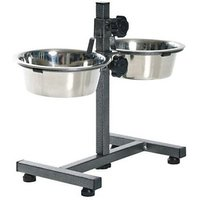 Petshop7 High Quality Pets Dog Food Bowl - Stand (2900MLX2 Bowl)-Xtra Large