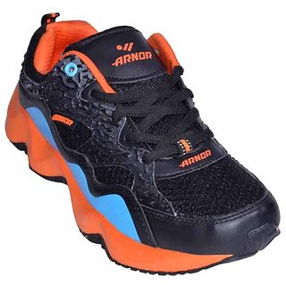 Adybird Men's Blue-Black-Orange Sports Shoes