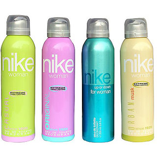 Nike Deodorants Casual Original Up or down and Urban musk for Women 200ml Each (Pack of 4)