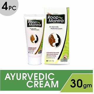 Roop Mantra Fairness Cream Ayurvedic (Pack of 4)