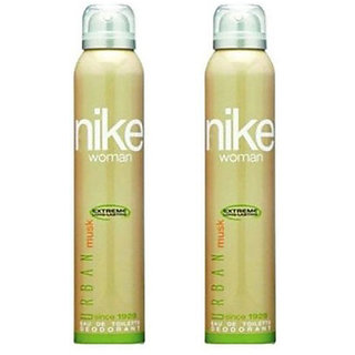 Nike Deodorants 2 Urban Musk for Women 200ml Each (Pack of 2)