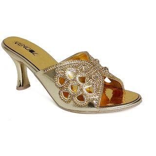 Vendoz Women Gold Heels