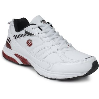 Action Shoes Men White And Red Sports Shoes