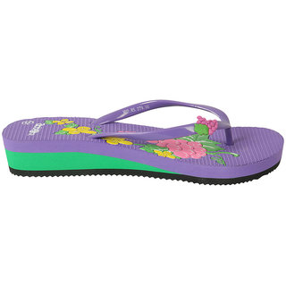 Action Shoes Women Purple Slipper
