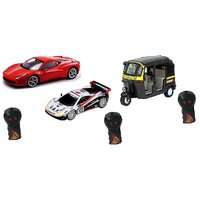 Combo Of Rc Ferrari Gt And Indian Auto Rickshaw