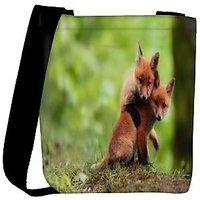 Snoogg Babies Fox Designer Womens Carry Around Cross Body Tote Handbag Sling Bags RPC-8508-SLTOBAG