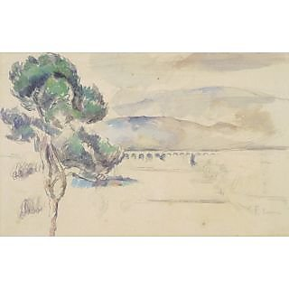 The Museum Outlet - Pine Tree and Viaduck in the Arc Valley, 1883-85 - Poster Print Online Buy (24 X 32 Inch)