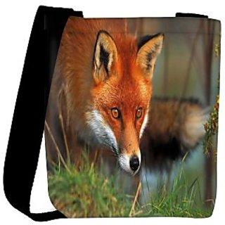 Snoogg Watching Fox Designer Womens Carry Around Cross Body Tote Handbag Sling Bags RPC-8507-SLTOBAG