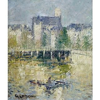 The Museum Outlet - The Bridge of Moret-sur-Loing, 1927 - Poster Print Online Buy (24 X 32 Inch)