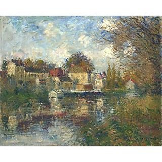 The Museum Outlet - The Loing at Moret - Poster Print Online Buy (24 X 32 Inch)