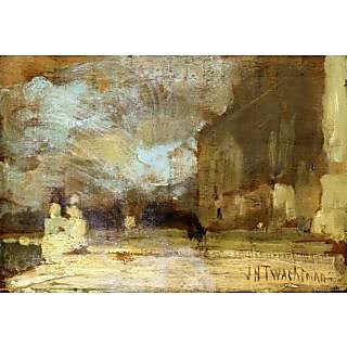 The Museum Outlet - The Quai, Venice, 1885 - Poster Print Online Buy (24 X 32 Inch)