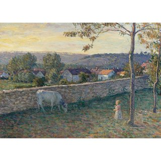 The Museum Outlet - A Child at the Lawn at Pierrefonds, 1896 - Poster Print Online Buy (24 X 32 Inch)