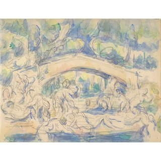 The Museum Outlet - Bathers by a Bridge, 1900-06 - Poster Print Online Buy (24 X 32 Inch)