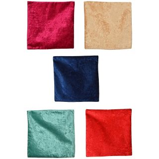 Spangle Plain Multicolor Art Silk Cusion Cover (Set of 5)