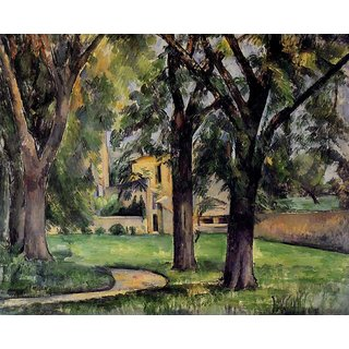 The Museum Outlet - Chestnut Tree and Farm at Jas de Bouffan, 1885 - Poster Print Online Buy (24 X 32 Inch)