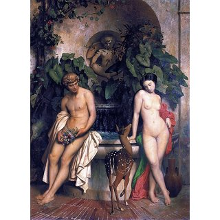 The Museum Outlet - Gerome  An Idyll, 1852 - Poster Print Online Buy (24 X 32 Inch)