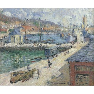 The Museum Outlet - Port of Fecamp, 1924 - Poster Print Online Buy (24 X 32 Inch)