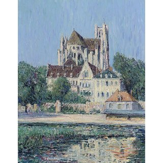 The Museum Outlet - The Cathedral of Auxerre, 1907 - Poster Print Online Buy (24 X 32 Inch)