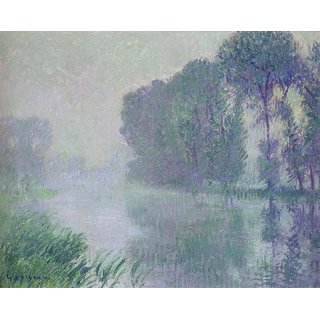 The Museum Outlet - The Eure - Afternoon, Fog Effect - Poster Print Online Buy (24 X 32 Inch)
