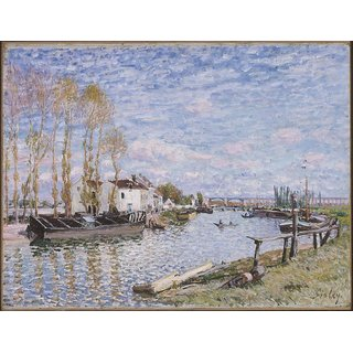 The Museum Outlet - The Loing at Saint-Mammes, 1882 - Poster Print Online Buy (24 X 32 Inch)