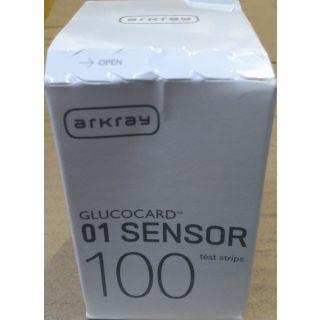 100 Test Strips of Arkray Glucocard 01 Sensor Meter