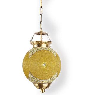 Fos Lighting Chandni Gola Big Energy Saver Brass Hanging Light
