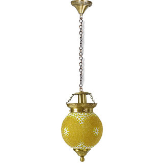 Fos Lighting Chandni Gola Small Energy Saver Brass Hanging Light