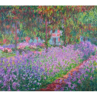 The Museum Outlet - Artists Garden by Monet - Poster Print Online Buy (24 X 32 Inch)
