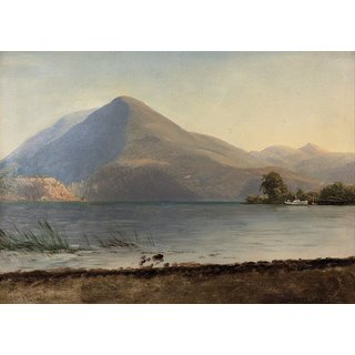 The Museum Outlet - Bierstadt - On the Hudson - Poster Print Online Buy (24 X 32 Inch)