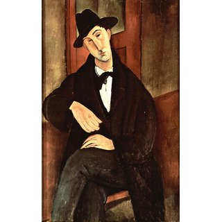 The Museum Outlet - Modigliani - Portrait of Mario Varfogli - Poster Print Online Buy (24 X 32 Inch)