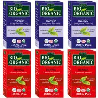 Indus Valley BIO Organic INDIGO + RED HENNA- Triple Pack Hair Coloring Kit