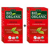 Indus Valley BIO Organic Red HENNA (Lawsonia Inermis) With Color Recipe Book- Twin Set