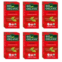 Indus Valley BIO Organic Red HENNA (Lawsonia Inermis) With Color Recipe Book- Pack Of 6