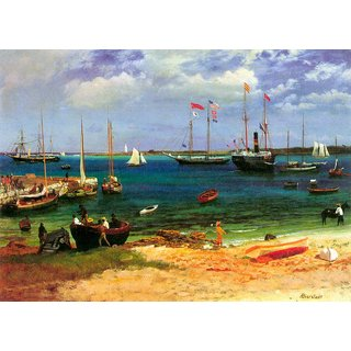 The Museum Outlet - Nassau port by Bierstadt - Poster Print Online Buy (24 X 32 Inch)