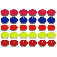 Pack Of 50 Colour Tealight Tea Light Candles For Diwali Birthday Party