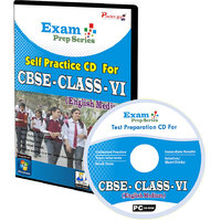 Exam Prep CD For  Class 6 - Maths, Science  English Combo